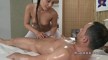 Nasty brunette russian wants to taste masseur s cum 2