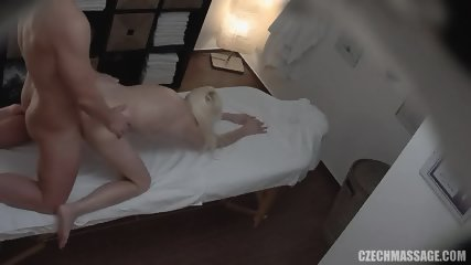 Cute Babe Sucks Dick And Gets Doggy Styled On Massage Table