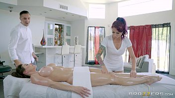Monique Alexander Massages A Gorgeous Babe Before Hardcore Threesome Fucking